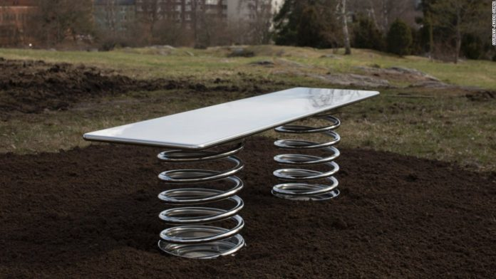 Reinventing the classic park bench design