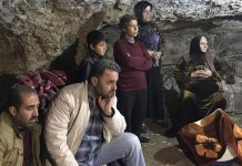 Turkey's bombs drive families into caves