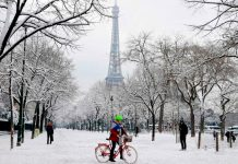 Eiffel Tower closed as heavy snow hits Paris