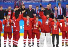 Russians win ice hockey gold — then controversially sing Russian national anthem
